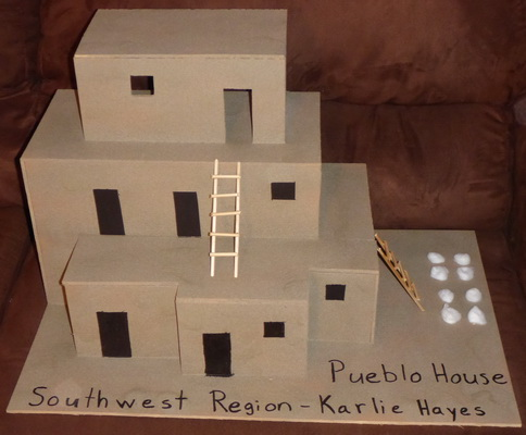 School projects southwest region native american pueblo for Projects of houses