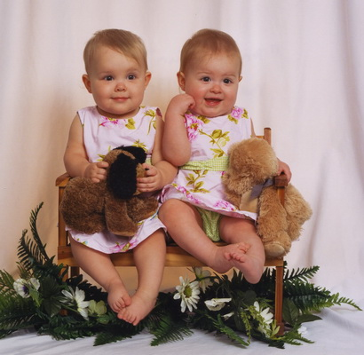 Karlie and Brina (March 2006, 13 Months) Flashback Friday