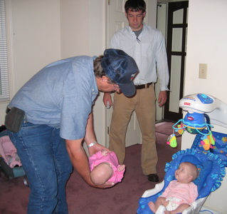 Flashback Friday - Grandpa Russell, Uncle Lee, Brina and Karlie playingc