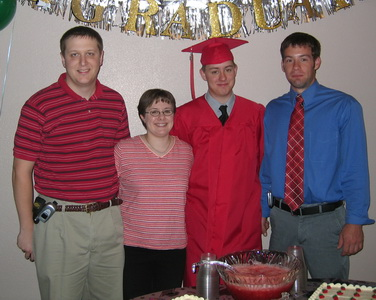 Jacob, Bridgette, Josh and Lee-Josh's Graduationc