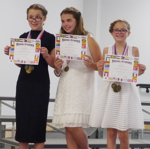 Karlie & Brina 5th Grade Awards Ceremony